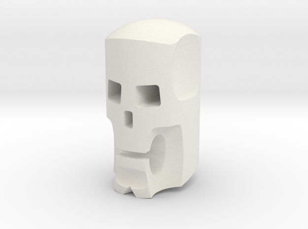 Stylized skull head for ModiBot in White Natural Versatile Plastic
