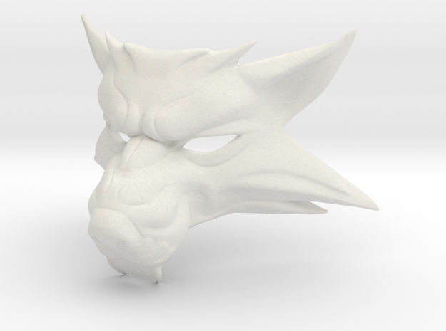 The Witcher 3: wolf mask in White Natural Versatile Plastic