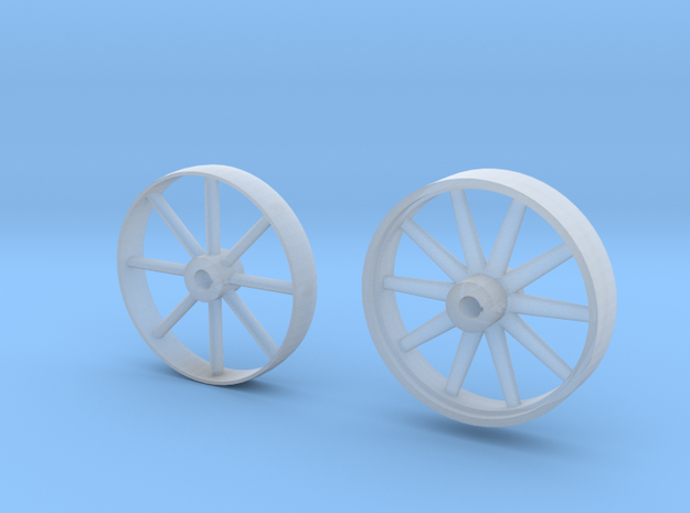 c.1:87  Flywheel and Pulley in Smooth Fine Detail Plastic