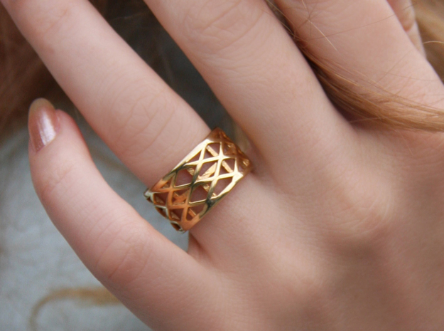 Archi Ring  in 18k Gold Plated Brass: Medium