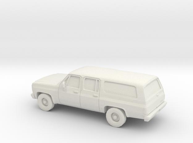 1/87 1973-79 GMC Suburban in White Natural Versatile Plastic