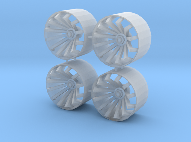 1/24 1/25 wheel type 2 in Smooth Fine Detail Plastic
