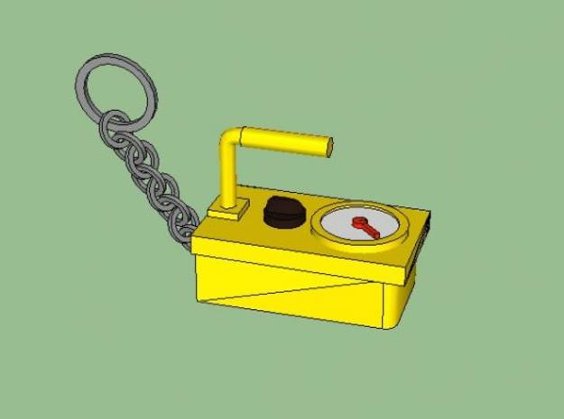 Geiger Counter Key-chain 3d printed Sketch up rendering