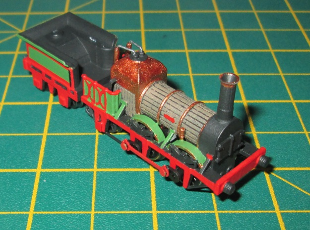 N Gauge Lion (Titfield Thunderbolt) Loco in Smooth Fine Detail Plastic