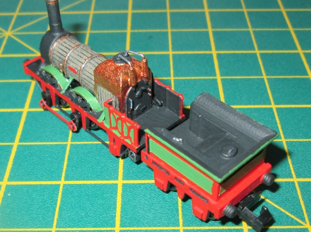 N Gauge Lion (Titfield Thunderbolt) Tender in Smooth Fine Detail Plastic