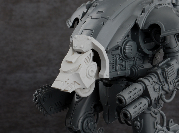 Wolf Cowl for Imperial Knight Armiger Warglaive in Smoothest Fine Detail Plastic