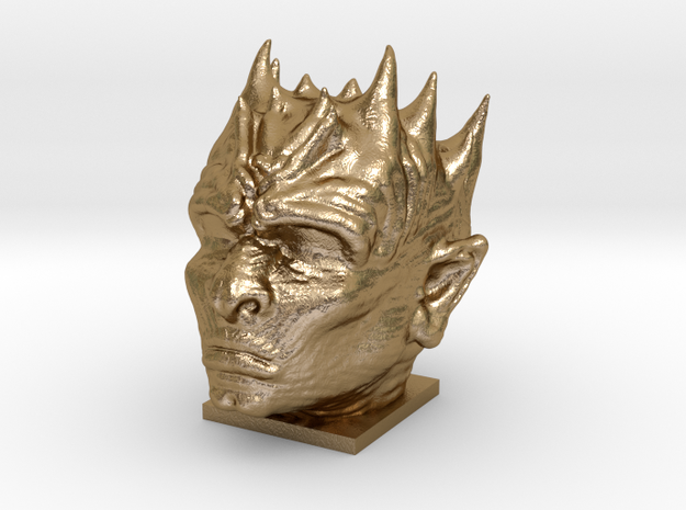 Night King - Game of Thrones - White Walker Bust in Polished Gold Steel