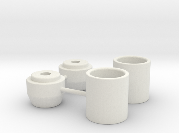 Axial Shock Retainer (Losi springs) in White Natural Versatile Plastic