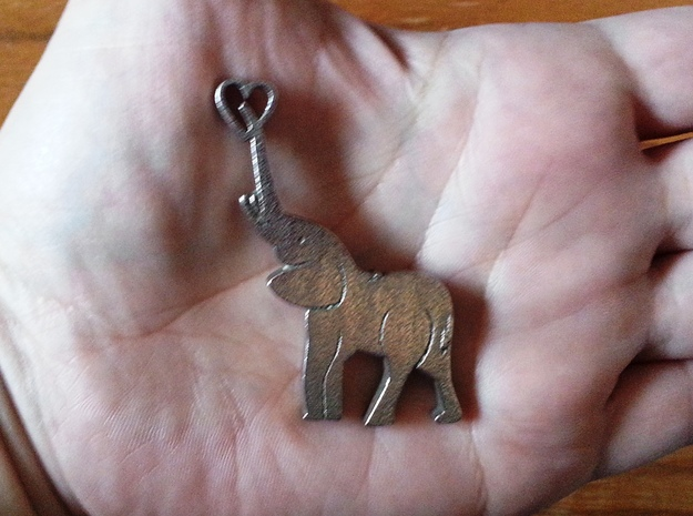 Tusks Pendant in Stainless Steel
