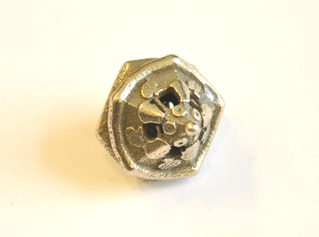 D10 Balanced - Pizza in Polished Bronzed Silver Steel