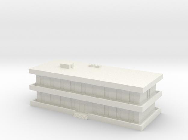 1/500 Barracks in White Natural Versatile Plastic