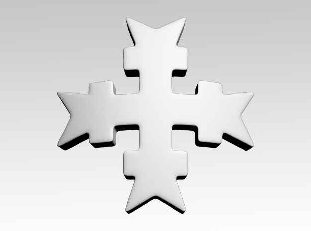 Templar Cross 4 Shoulder Icons x50 in Smooth Fine Detail Plastic