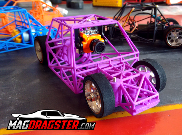 MagDragster [MD-Golf01] RC Car / MagRacing Car in Purple Processed Versatile Plastic