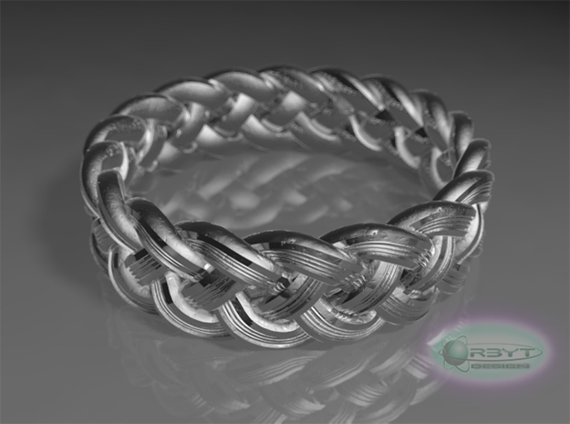 Best Celtic Knot Ring - US size 10 3d printed Raytraced DOF render - simulating polishedsilver material