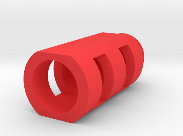 "AWP Sniper Airsoft Muzzle Brake (1"" Male +) in Red Processed Versatile Plastic"
