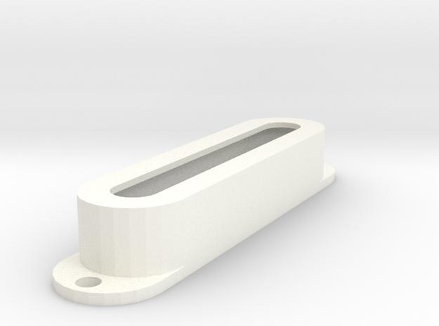 Strat PU Cover, Single, Open in White Processed Versatile Plastic