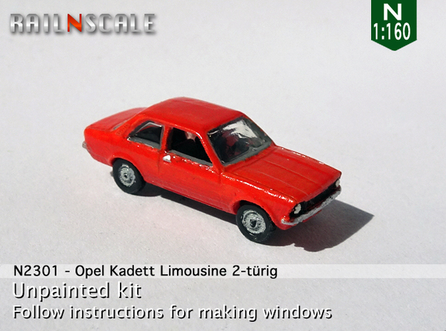 Opel Kadett Limousine (N 1:160) in Smooth Fine Detail Plastic
