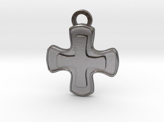 Healer Role Charm in Polished Nickel Steel