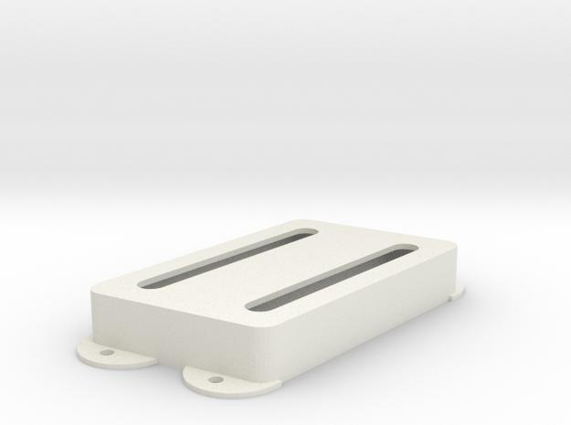 Jag PU Cover, Pickguard, Double, Angled, Open in White Premium Versatile Plastic