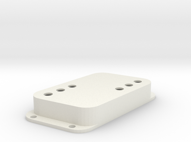 Strat PU Cover, Double Wide, Angled, WR in White Premium Versatile Plastic