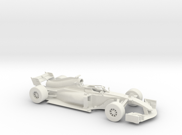 F1 2018 car 1:30 in White Natural Versatile Plastic