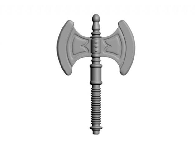He-Man's Battle Axe for Lego in White Processed Versatile Plastic