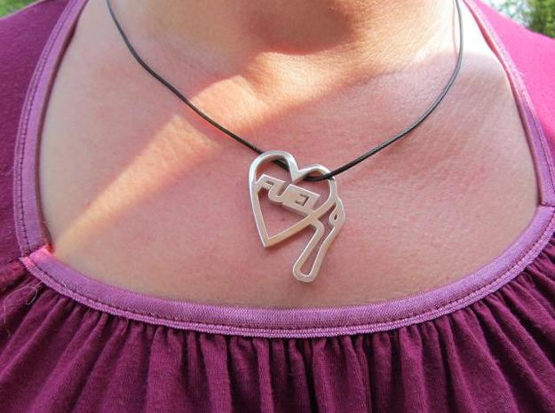 Love Pump Pendant 3d printed the size is designed to make a statement without being too obvious