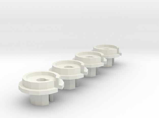 losi jrx2 shock cup in White Natural Versatile Plastic