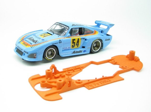 PSFY00101 Chassis for Fly Porsche 935 K3 in Orange Processed Versatile Plastic