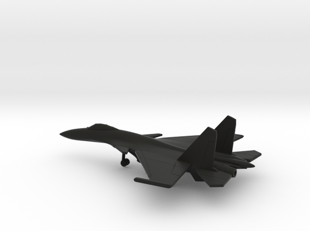Sukhoi Su-33 Flanker-D in Black Natural Versatile Plastic: 6mm