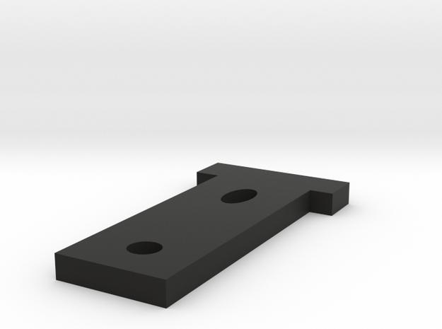 Robocar motor mount in Black Natural Versatile Plastic