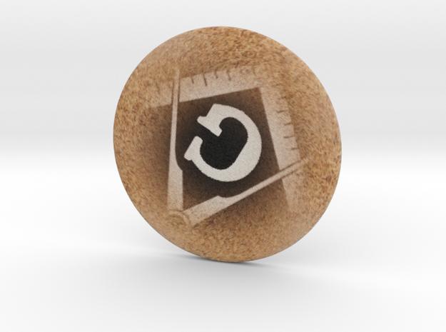 Coaster in Full Color Sandstone