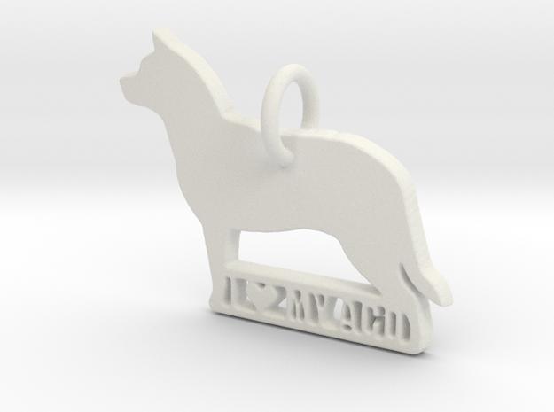 I Love My Australian Cattle Dog in White Natural Versatile Plastic
