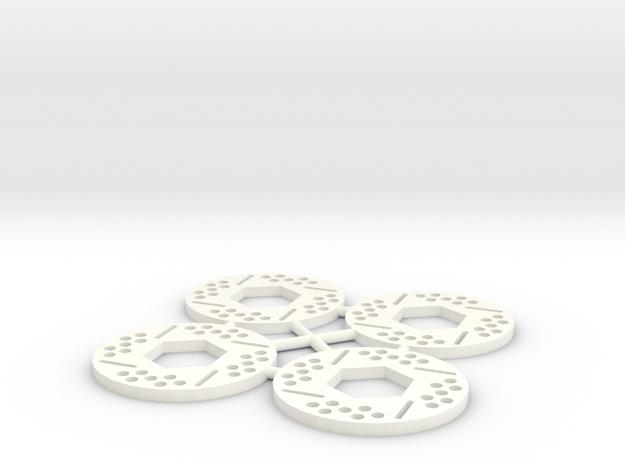 Brake Rotor Set (30mm diameter) in White Processed Versatile Plastic