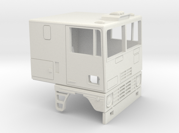 1-32 Dodge L 1000  Cab in White Natural Versatile Plastic