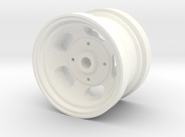 "RIM005-01 1.75"" Rear Slot Mag, Tamiya 5 Lug in White Processed Versatile Plastic"