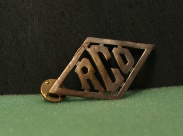 Reading Railroad Conductors Collar Brass Pins in Natural Brass