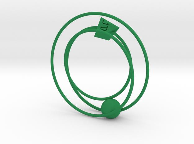 Phaeton Sculpture 1/3 Size in Green Processed Versatile Plastic