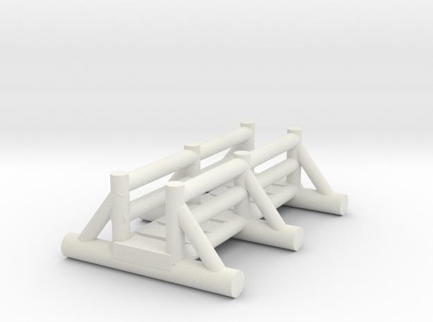 small foot bridge 4cm in White Natural Versatile Plastic