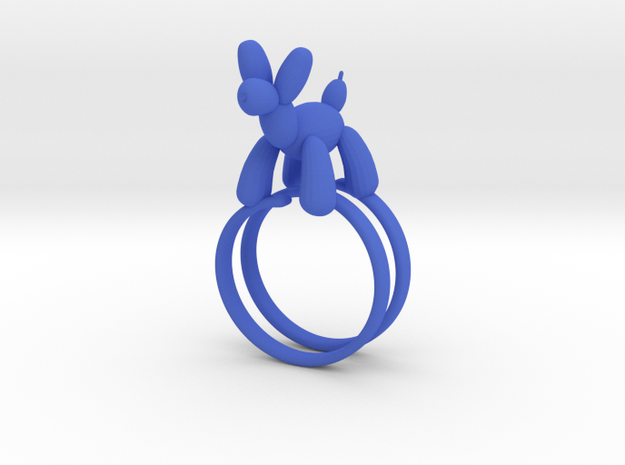 BALOON DOG RING in Blue Processed Versatile Plastic: 7.25 / 54.625