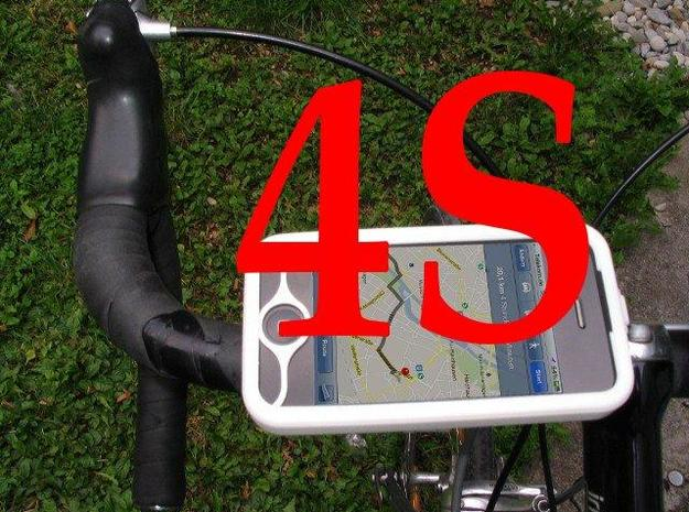 """iPhone 4S bike mount assembly 1"""" in White Natural Versatile Plastic"""