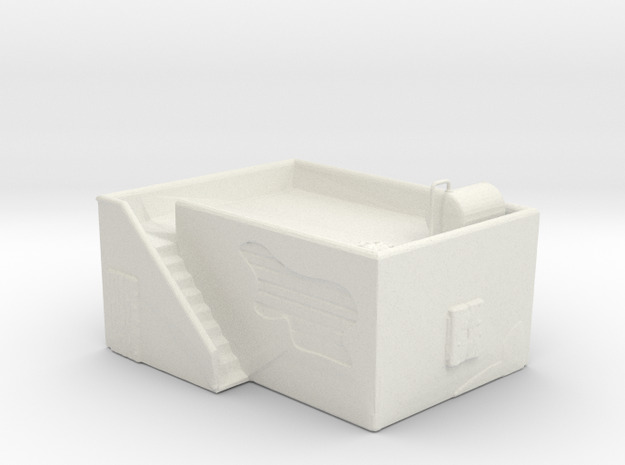 House with side stairway and roof reservoir  in White Natural Versatile Plastic