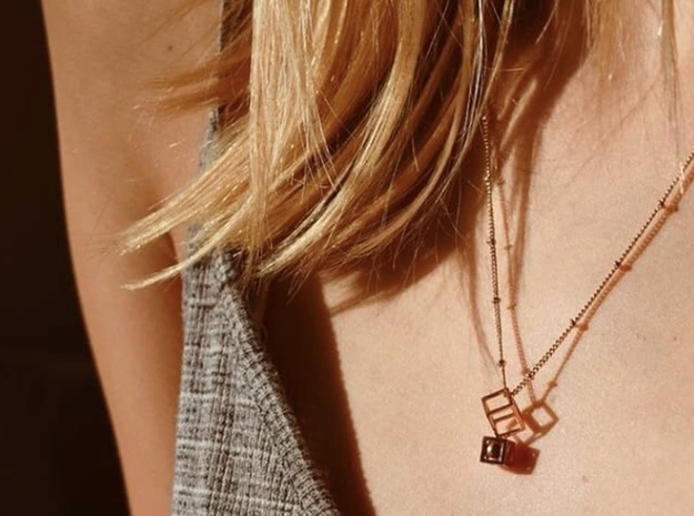 Geometric Pendant #1 in 18k Gold Plated Brass