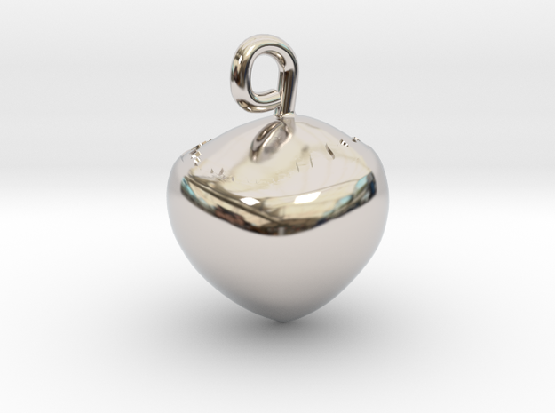 Hazelnut jewel in Rhodium Plated Brass