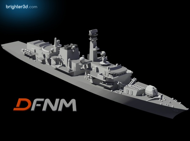 Type 23 Frigate in White Strong & Flexible: 1:700