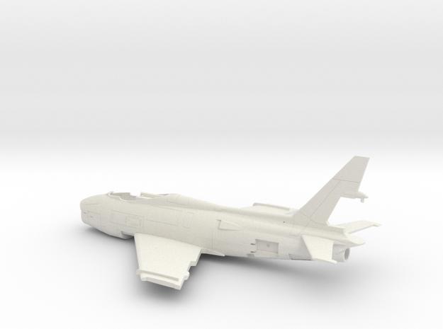 FJ4B-144scale-1-Airframe in White Natural Versatile Plastic