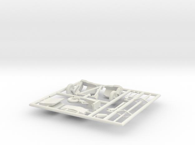 FJ4B-144scale-3-PartFret2 in White Natural Versatile Plastic