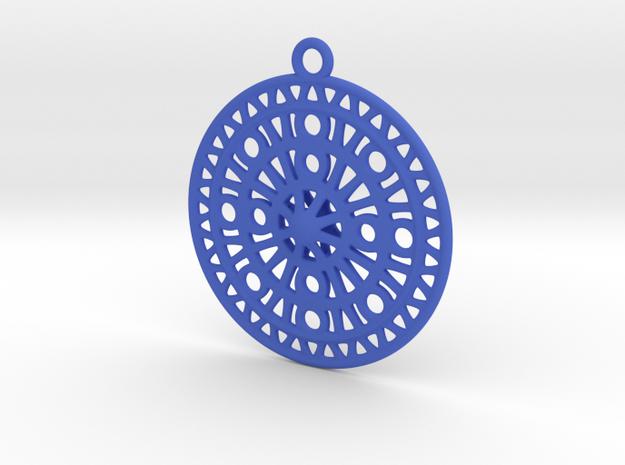 Celtic Ornament, Sanctuary of Hera, Greece (ring) in Blue Processed Versatile Plastic: Medium