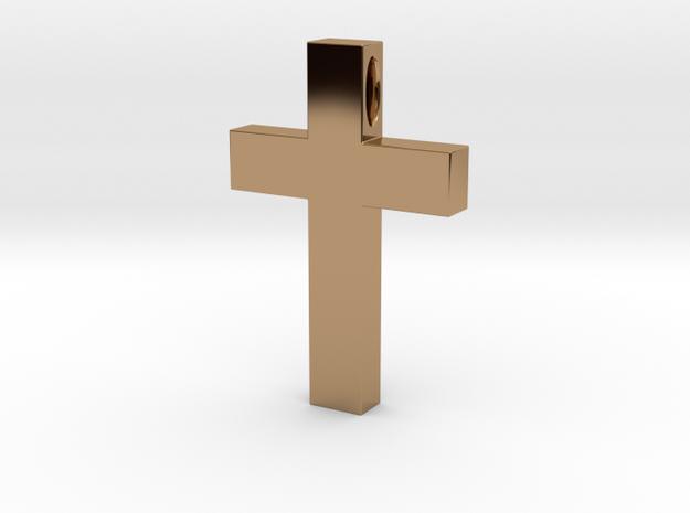 Cross Pendant in Polished Brass