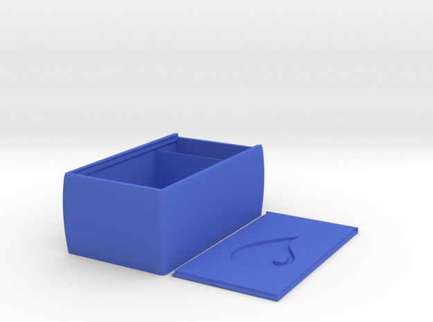 Super Tough Sliding Lid Deckbox (Blue Mana) in Blue Processed Versatile Plastic